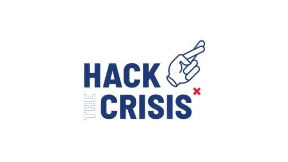 Hack the crisis Logo copyright Hack the crisis